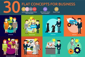 Flat Concept Business People