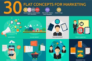 Flat Concepts for Marketing