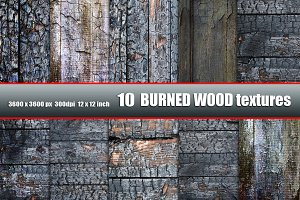 Burned wood grunge texture