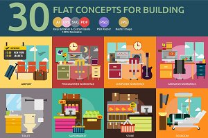 Flat Concepts for Building Interior