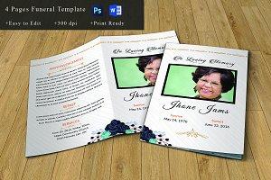 Funeral Program Template-V663