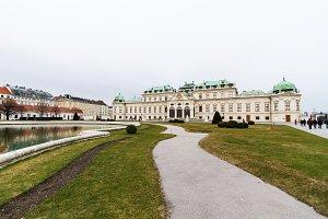 Belvedere Palace in Vienna .