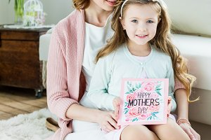 Mother with daughter on Mother's day