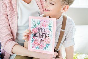 Family and Mothers day greeting card