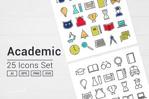 Academic School Icons Set