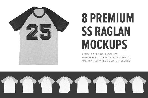 8 Premium Short Sleeve Raglan Mocks