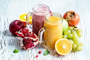Healthy vitamin fruit smoothie