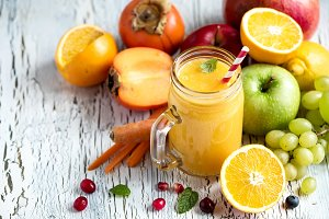 Healthy vitamin fruit smoothie drink