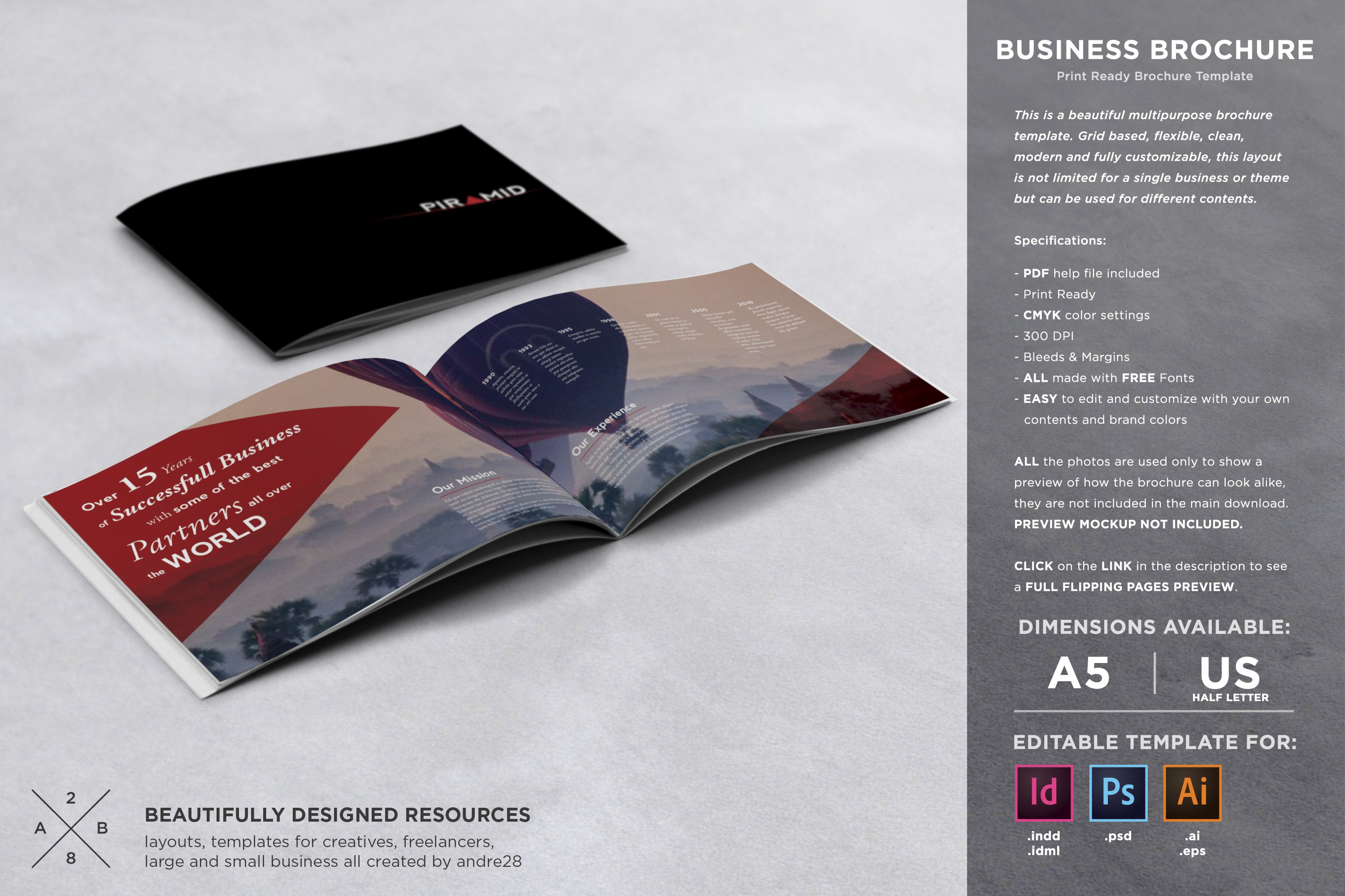 Business brochure template brochure templates creative market accmission Gallery