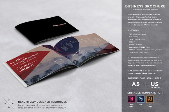 Business brochure template brochure templates creative market wajeb