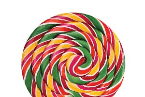 Colorful candy on a stick vector