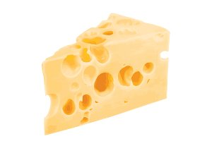 Cheese chunk vector illustration