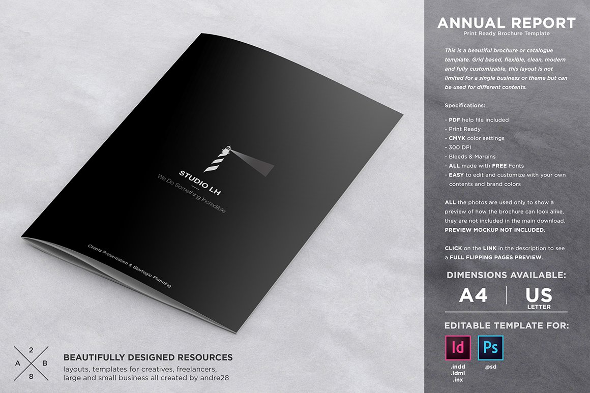 black brochure template - annual report brochure template brochure templates