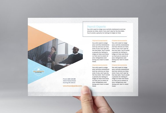 A5 Booklet Catalogue Brochure Layout Using Circles Design Free A5
