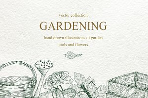 Vector gardening collection