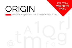 ORIGIN - Modern Typeface + Web Fonts
