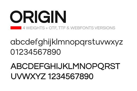 ORIGIN - Modern Typeface + Web Fonts ~ Sans Serif Fonts ~ Creative