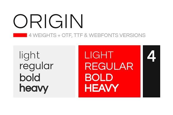 ORIGIN - Modern Typeface + Web Fonts