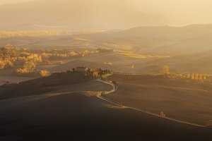 Valley Val d'Orcia at sunset TIF