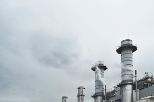 Big industrial chimneys