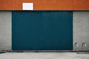 Mockup of warehouse facade