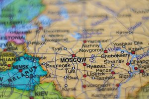 Russia on map .