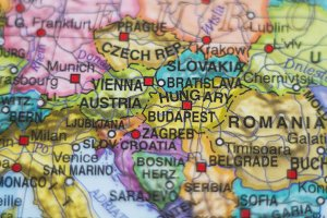 Hungary country map .