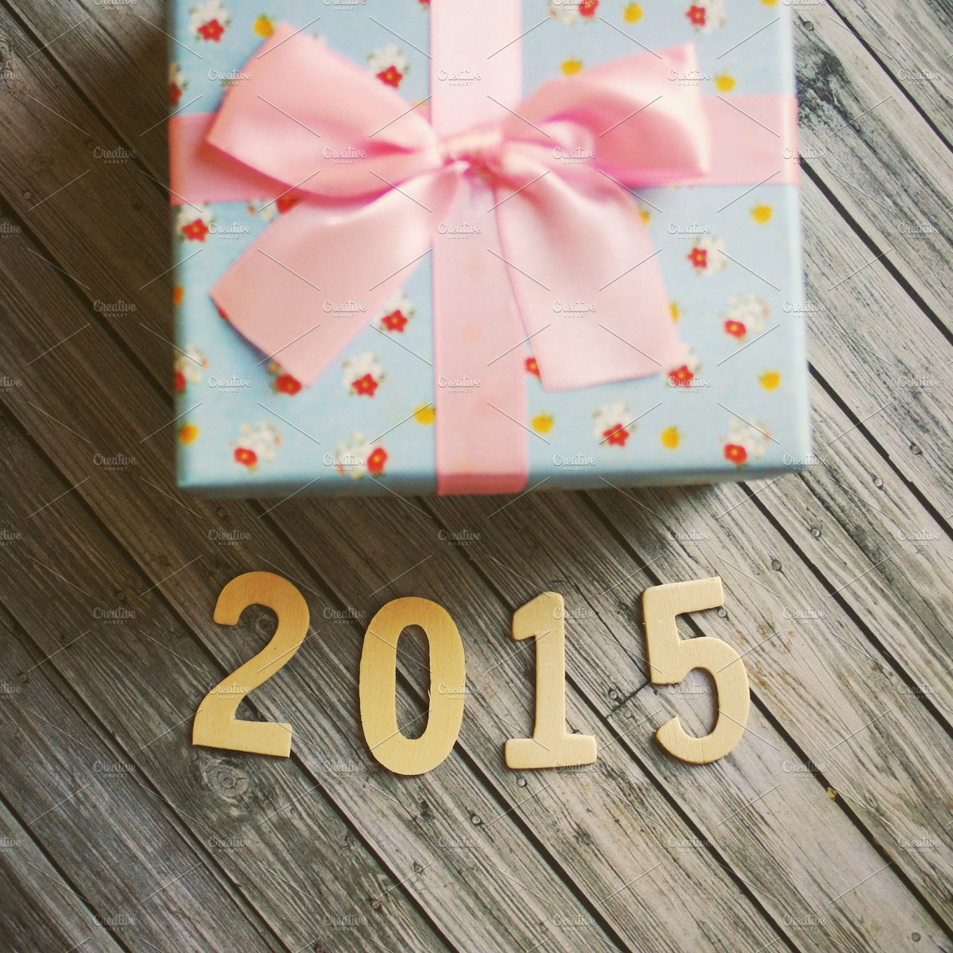 happy new year 2015 with gift box holiday photos creative market