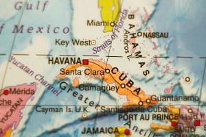 Cuba country map .