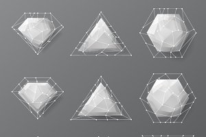 Geometric low polygonal