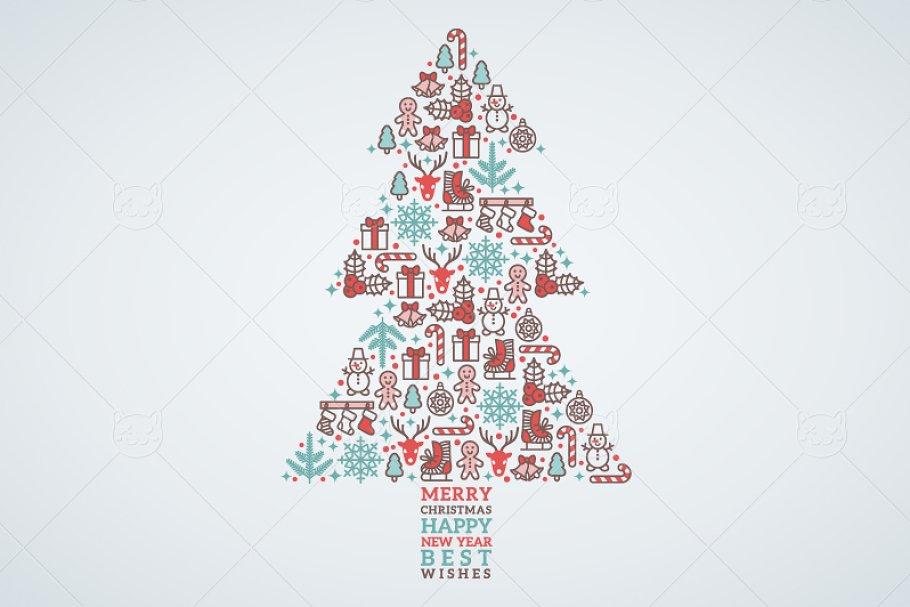 Merry Christmas Card Illustrations Creative Market