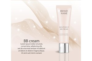Realistic BB cream, foundation