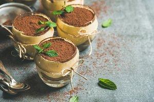 Homemade Italian dessert Tiramisu