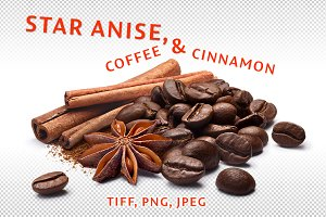 Cinnamon, coffee, anise