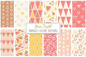 Hand Drawn Vector Triangle Patterns