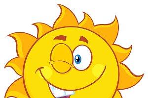 Winking Sun Character