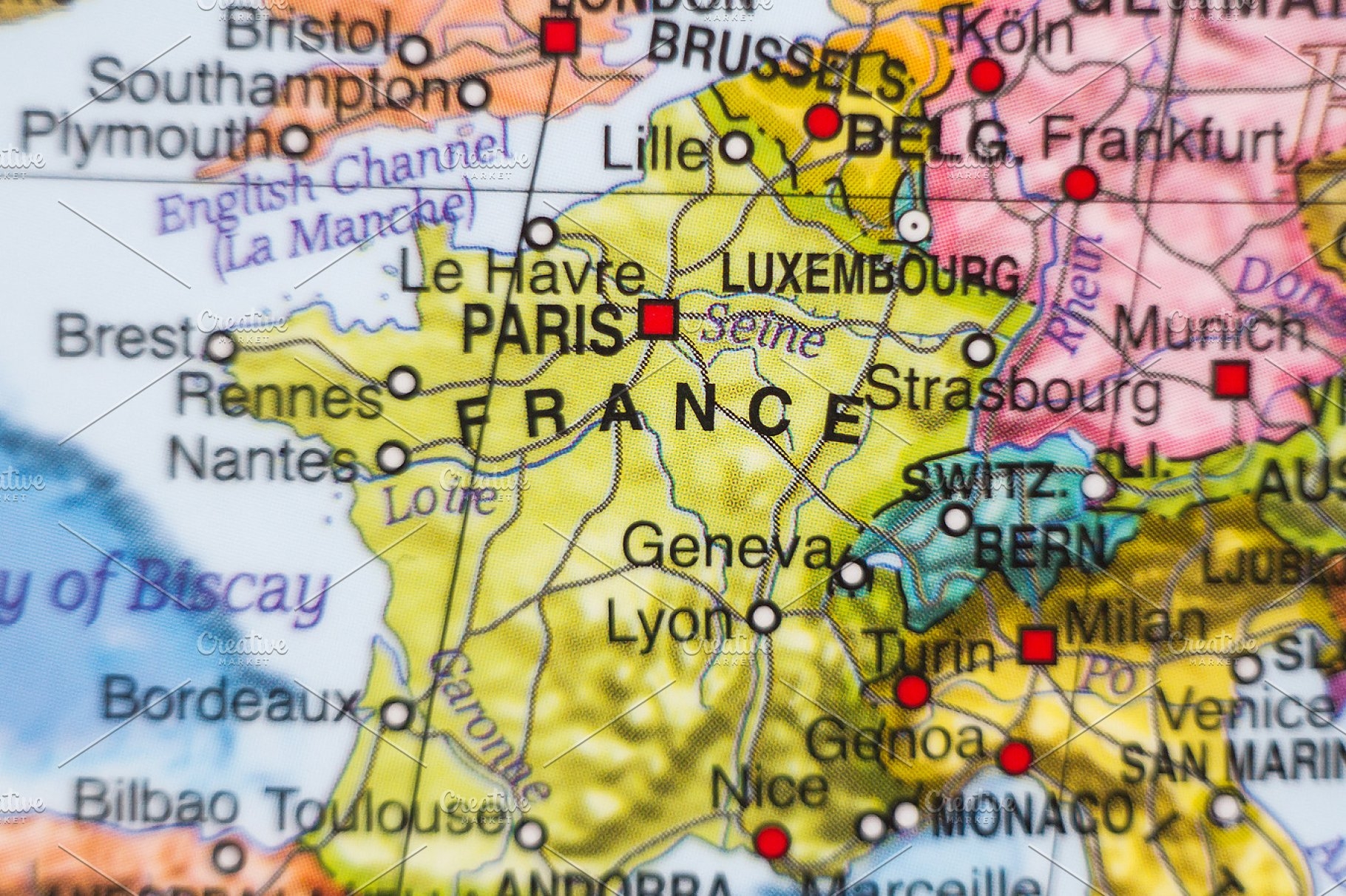 Country Map Of France.France Country Map