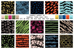 Seamless pattern color trends 2017