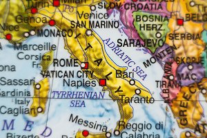 Italy country map .