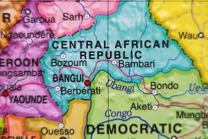 Central African Republic country map .