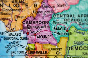 Cameroon country map .