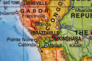 Congo country map .