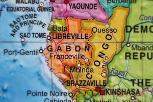 Gabon country map .