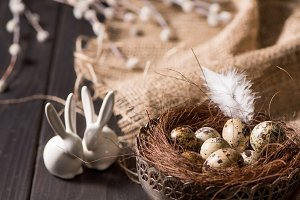 Easter bunnies and quail eggs