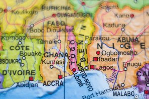 Ghana country map .