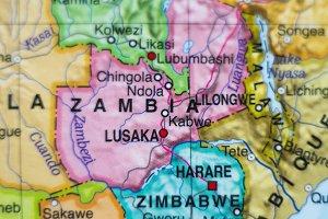 Zambia country map .