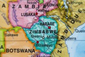Zimbabwe country map .
