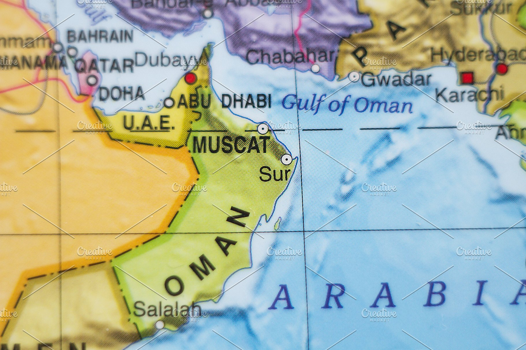 Oman country map
