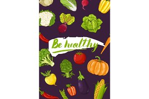 Be healthy concept with vegetable