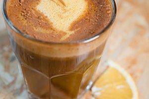 Hot Coffee New Year Santa